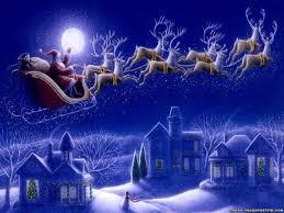 christmas santa claus sleigh ne wall