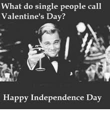 Single On Valentines Day Meme - what do single people call valentine s day happy independence day