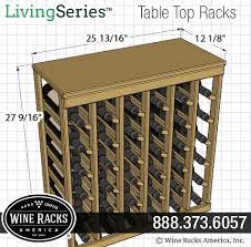 36 bottle table top wine rack living series wine rack