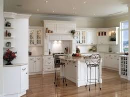 White Laminate Kitchen Cabinets Kitchen Glamorous White Kitchen Decor With Brown Textured Wood