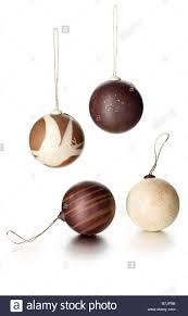 chocolate ball xmas tree decorations stock photo royalty free