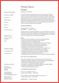 Cleaning Resume Sample by Resume For House Cleaner