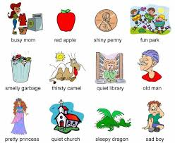 adjectives exercise learning english vocabulary and grammar