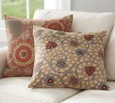 embroidered home decor fabric geena madhubani embroidered pillow covers pottery barn