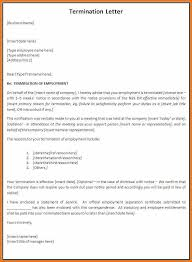 sample termination letter sample termination letter form template