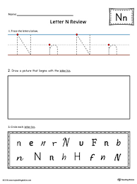 lowercase letter n color by letter worksheet myteachingstation com