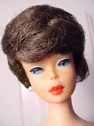 bubble cut hair style barbie 1963 chocolate brunette bubblecut bubble cut barbie