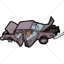 wrecked car clipart crushed car clipart