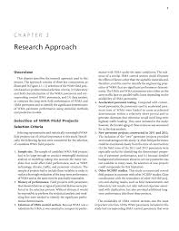 chapter 2 research approach long term field performance of