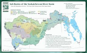 Map Of Edmonton Canada by Saskatchewan River Basin Map