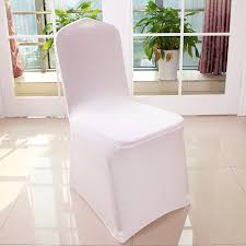 white spandex chair covers 300 pcs white universal stretch polyester spandex party wedding