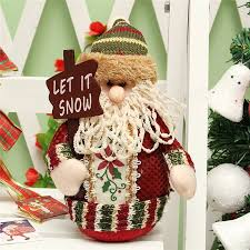 Decoration Table Christmas by Christmas Santa Claus Snowman Deer Stuffed Doll Standing