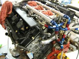 nissan 350z water pump aam stage 1 fuel return system with billet rails z1 motorsports