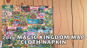 Magic Kingdom Map Orlando by 2014 Walt Disney World Magic Kingdom Map Cloth Napkin Country Bear