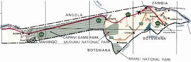 Namibia Map Caprivi Strip Namibia