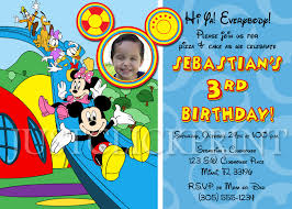 mickey mouse clubhouse birthday party invitations invitations