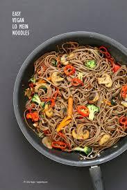 chinese thanksgiving recipes vegan lo mein with soba noodles vegan richa