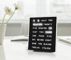 Coolest Clock Amazon Com Led Word Clock Displays Time As Text Home U0026 Kitchen
