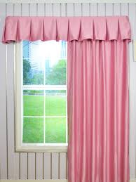 Window Box Curtains Solid Brown Color Layered Wave Window Valance And Curtains