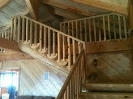 stairs and railing colorado log homes allpine lumber co