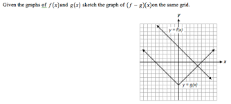 graphing functions given the graphs of f x and g x sketch the