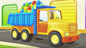helper cars cartoons and animation for kids dump truck and