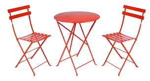Red Metal Chair Red Bistro Table