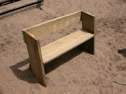 How To Make A Simple Wooden Bench - easy beach or garden bench out of scrap wood