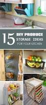 storage ideas kitchen diy produce storage ideas for your kitchen