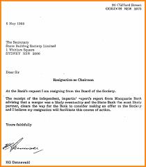 formal resignation letter doc image collections letter format