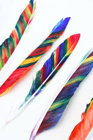 feather crafts for kids home
