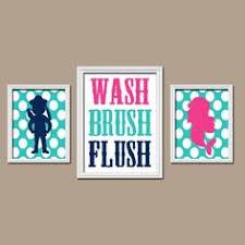 Unisex Bathroom Ideas Unisex Kids Funny Bathroom A Set Of 4 Art Print Unframed