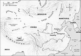 physical map of asia blank world history