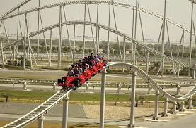 roller coaster abu dhabi speed golden book of records fastest roller coaster