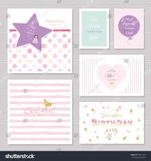 Birthday Invitation Cards For Teenagers Cute Cards Design Glitter Teenage Girls Stock Vector 558615637