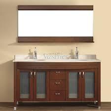 modern bathroom vanities with dark brown lacquered wooden bathroom