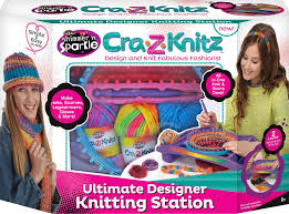 amazon com cra z art cra z knitz knitting station toys u0026 games