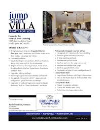 bridgewater building two award winning luxury villa floor plans at