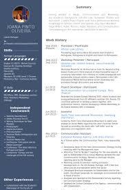 Resume In Spanish Example by Translator Resume Samples Visualcv Resume Samples Database