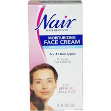 nair 2 ounce hair removal cream for upper lip chin and face