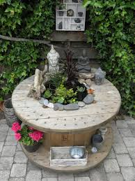 Small Patio Water Feature Ideas by Small Patio Pond Made Of An Old Spool 1a Mijn Eigen Projecten