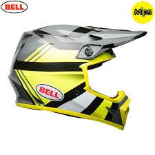 yellow motocross helmets 2018 bell mx9 marauder motocross helmet hi viz yellow mips 1stmx