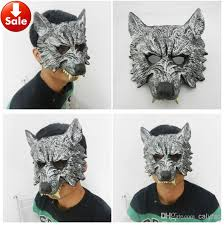 wolf masquerade mask grey silver wolf mask scary party mask masquerade mask