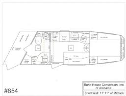horse trailer living quarter floor plans bunkhouse conversion of alabama