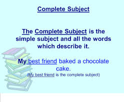 describe it the sentence parts of a sentence subject predicate u003d sentence