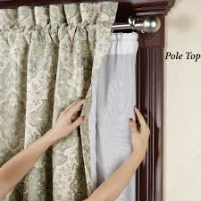 Sidelight Panel Curtain Rod by Curtains Half Rod Pocket Door Curtain Panel Sidelight Curtains