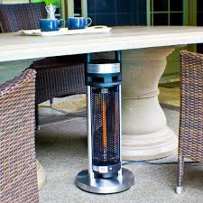 Garden Radiance Patio Heater by Energ 4 Seasons Infrared 900 Watt Electric Tabletop Patio Heater