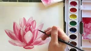 how to paint watercolor a water lily youtube