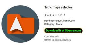 maps apk version sygic maps selector cracked version mod apk