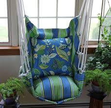 Swinging Chair For Bedroom Bedroom Comfortable Green Floral Pattern Fabric Hanging Chair